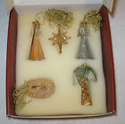 Lenox Crystal Set of 5 Nativity Ornaments LNIB