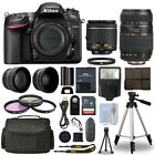 Nikon D7200 Digital SLR Camera + 4 Lens Kit 18 55mm + 70 300 mm + 32GB Kit