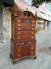 Fantastic Mahogany Shop Made Chippendale Chest On Chest 20th Century