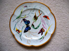 Antique Hand Painted English Butterfly Cabinet  Plate