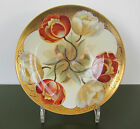 PICKARD Twin Tulip PLATE Art Nouveau Hand Painted 1905-10 Haviland France