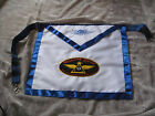 Masonic Widows Sons Apron Freemason Blue Lodge Fraternity Motorcycle NEW!