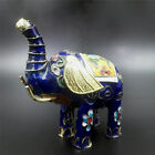 RARE ANTIQUES COLLECTABLE HANDWORK COPPER TIRE CLOISONNE AFRICAN ELEPHANT STATUE
