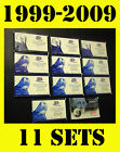 1999 2008 2009 US MINT 50 STATE QUARTERS PROOF COIN COLLECTION SET+BOX+COA