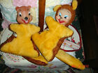 VTG ESTATE COLLECTABLE 1950's COLUMBIA TOYS RUBBER FACE HUGGING SQUIRREL SET 2