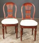 Pair of French mahogany balloon back side chairs with cane seats fitt... Lot 288
