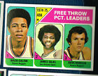 25 cards of 1975-76 Topps Basketball #224 ABA Free Throw Pct Leaders E8