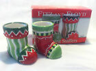 Fitz & Floyd Stocking Stuffers Party Pick or Toothpick Holders New NIB