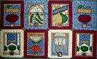 FABRIC COTTON DEBBIE MUMM SEED PACKETS QUILT BLOCKS SQUARES PANEL OOP