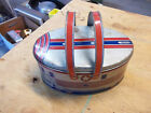 Vintage Decoware tin Zephyr train lunchbox with tray