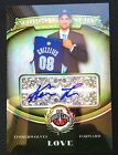 Kevin Love 2008-09 Topps Treasury Refractor Auto RC #125