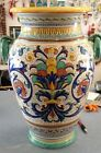 Deruta Pottery Amphora/Vase/umbrella stand Ricco.Made/Painted by hand in Italy
