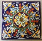 Deruta Pottery-7,3/4inch Tile vario Pattern made/painted byhand-Italy.