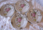 Vintage Pink Yellow Rose Textured Leuchtenburg Germany 5 1/4