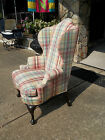 Fantastic Queen Anne Wing Back Chair by the Henredon Co 20th century.