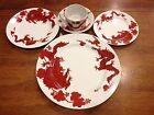 Temple Dragon China by Fitz & Floyd - 5 Piece Place Setting- RED CHINESE DRAGON