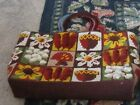 Needlepoint bag handbag purse beautiful nature design vintage acorn flowers chic