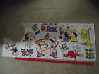 VINTAGE POPEYE OLIVE OYL WIMPY SPINACH JEEP SWEET PEA  QUILT COTTON FABRIC PANEL