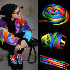 Hot 2 Pairs Rainbow Multi Colors Flat Shoe Laces Shoelaces Strings for Sneakers