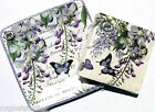mICHEL dESIGN wORKS Set 8 Sq Dessert Plates + 20 Beverage Napkins Wisteria