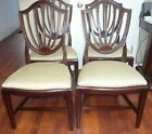 ETHAN ALLEN SHIELD BACK DINING ROOM CHAIRS SET OF 4