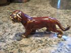 RARE - Bennington Rockingham Pottery Brown Drip -Lion- Lioness - Panther - Tiger