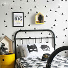 Little Triangles pack of 80 triangles, black, modern, scandinavia wall decal
