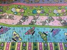 EASTER BUNNY AND BUTTERFLIES FABRIC  BY THE YARD