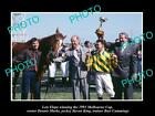 LARGE HISTORIC HORSE RACING PHOTO OF LETS ELOPE 1991 MELBOURNE CUP WINNER 1
