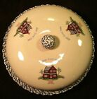 Home Sweet Home Heavy Stoneware Sponge Ware Covered PIE PLATE Country Kitchen