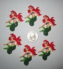 6 LITTLE MERMAID ARIEL FLAT BACK RESINS FOR HAIR BOWS SHIPS FREE USA SELLER