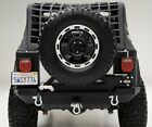 Smittybilt XRC Rear Bumper 87 06 Jeep Wrangler YJ TJ 76653 Black W Tire Carrier