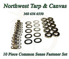 Common Sense Fasteners Marine Canvas Eyelet  Stud Turn Button 10 Piece