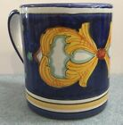 Deruta Pottery-coffee mug Barocco Racoco'. Made/painted by hand in Italy