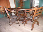 Oval Game Table w 4 Chairs,Antique Table n Chairs,Oval Table w Set/4 Chairs 218A