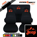1997-2002 Jeep Wrangler Black Seat Covers Jeep Design W Mountain Choose Color