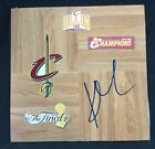 2016 NBA CHAMPIONS Cleveland Cavaliers Kyrie Irving SIGNED Basketball Floorboard