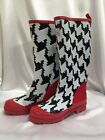 little missmatched Crazy Coordinate Wellies Rain Boots Houndstooth ADULT Sizes