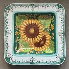 Deruta Pottery-15x15 inch Square Plate sunflower.Made/Painted by hand-Italy
