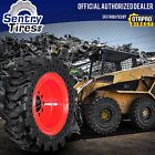 12x165 4 Non Marking Solid Skid Steer Tires w Wheels 33x12 20 for FAI Komatsu
