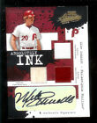 2005 ABSOLUTE INK MIKE SCHMIDT #24 50 AUTO JERSEY STIRRUPS SOCKS CARD PHILLIES