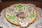 VINTAGE....VERY PRETTY.....HAND PAINTED....FLOWERED DISH...MADE IN ITALY