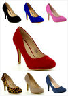 Brand New Womens Fashion Almond Toe High Heel Platform Stilettos Pumps Shoes