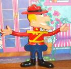 VINTAGE 1972 DUDLEY DORIGHT BENDY Bendable DOLL WHAM-O JAY WARD MOUNTIE Cartoon