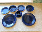 Fiesta Cobalt Dinner plates, Salad bowls, bread plates and cup & saucer