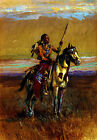 The Scout 22x30 Hand Numbered Edition Native American Indian Art Print Russell
