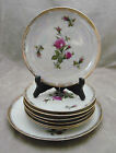 Rose Iridescent Lusterware Lunch Sandwich Plates with Serving Plate 8 PC Japan?