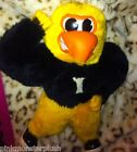 RARE VINTAGE UNIVERSITY OF IOWA Plush Stuffed Mascot Eagle Ertle 1980s 1983   X