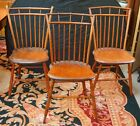 Antique Primitive American Windsor Chairs | Set of 3
