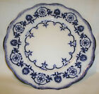 """Antique Pountney's Bristol Semi China Indian Pattern Flow Blue 9 1/8"""" Plate NICE"""